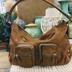 J crew leather hobo shoulder bag